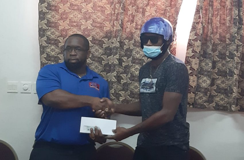 The Dominica Cricket Association has presented $17, 000 dollars towards national cricket captain Tyrone Theophile